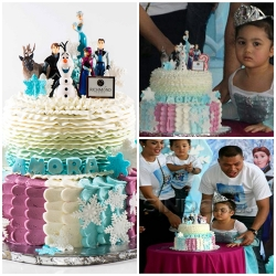 Amora dengan cake Frozen Richmondcakery